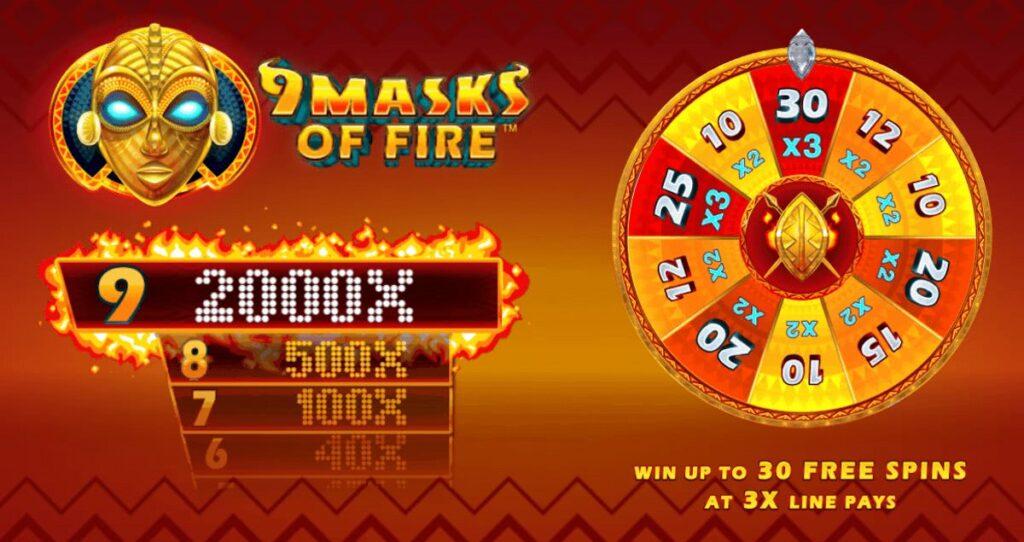 9 Masks of fire bonus wheel