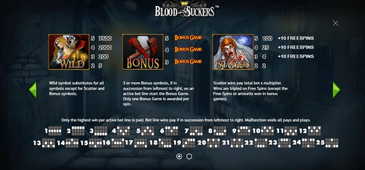 blood suckers free spins