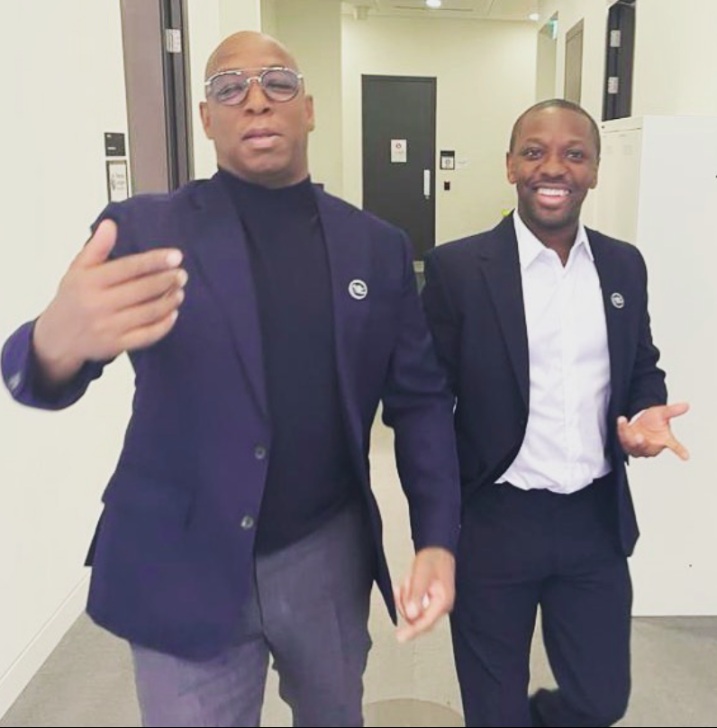 Ian Wright  and his son Shaun Wright-Phillips