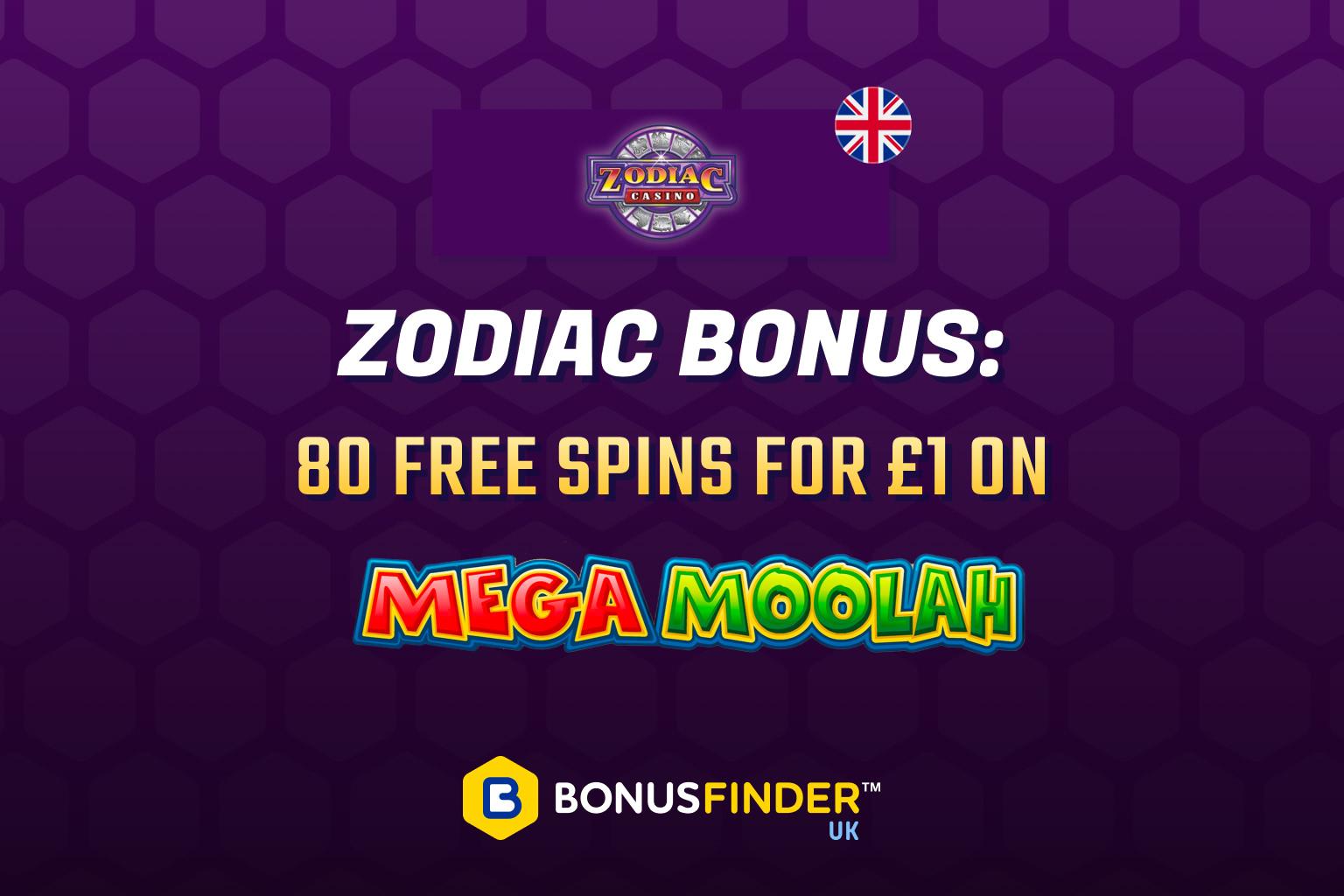 zodiac 80 free spins