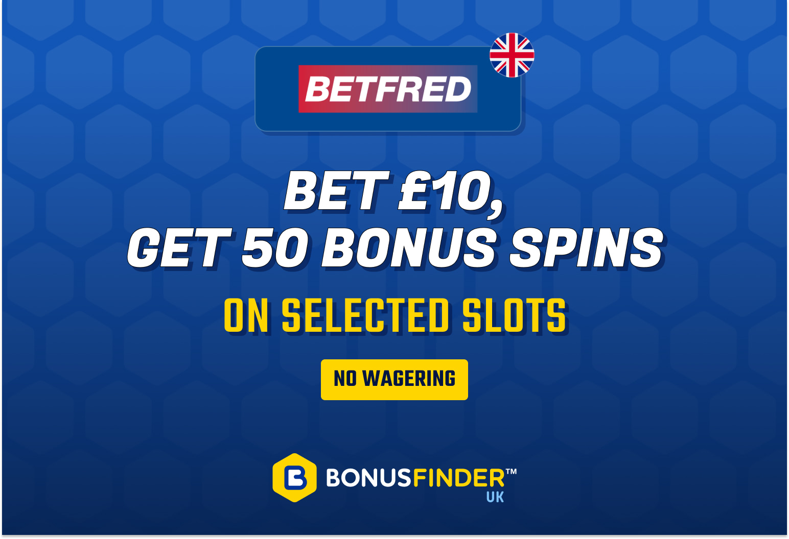 Betfred free spins casino bonus offer