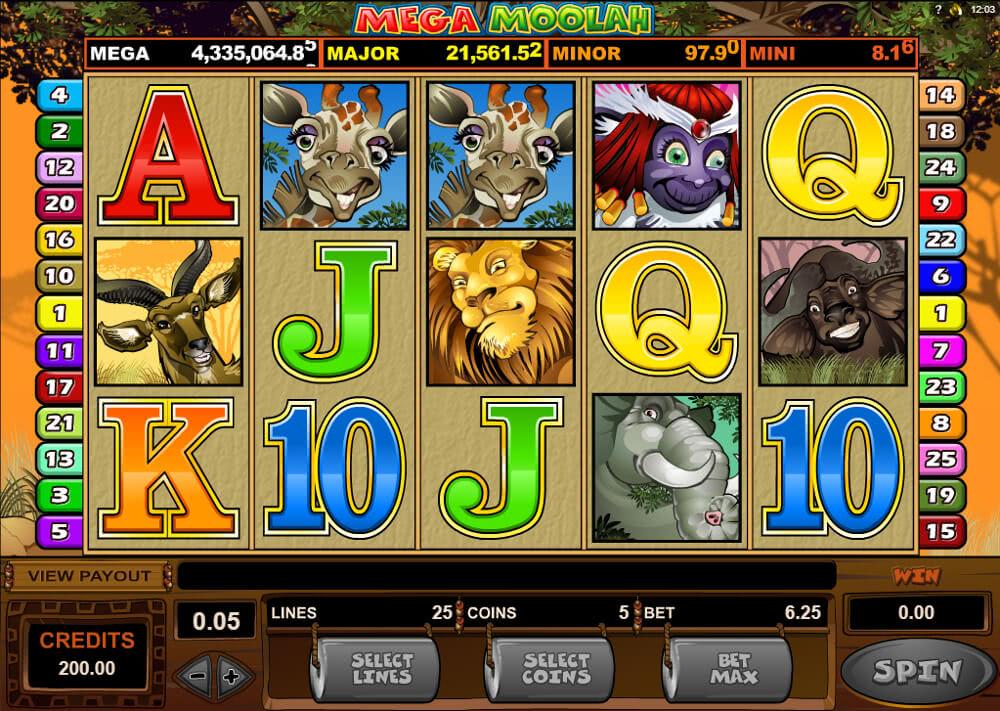 casino rewards mega moolah uk