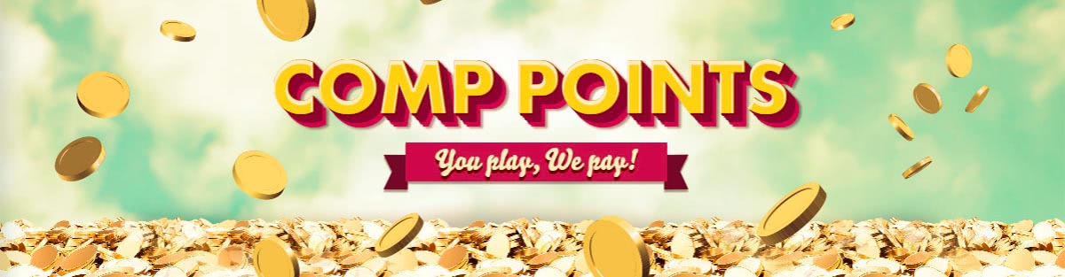 Get your comp points! Always be winning even when you're losing with 777 Casino.