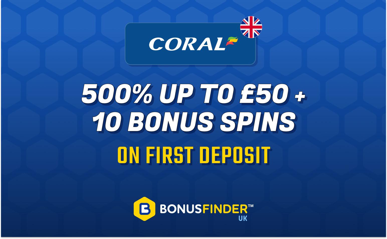 500% first deposit casino bonus