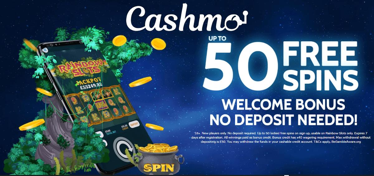 50 free spins on registration no deposit UK 2021