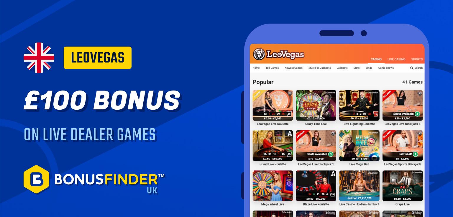 online live casino bonus