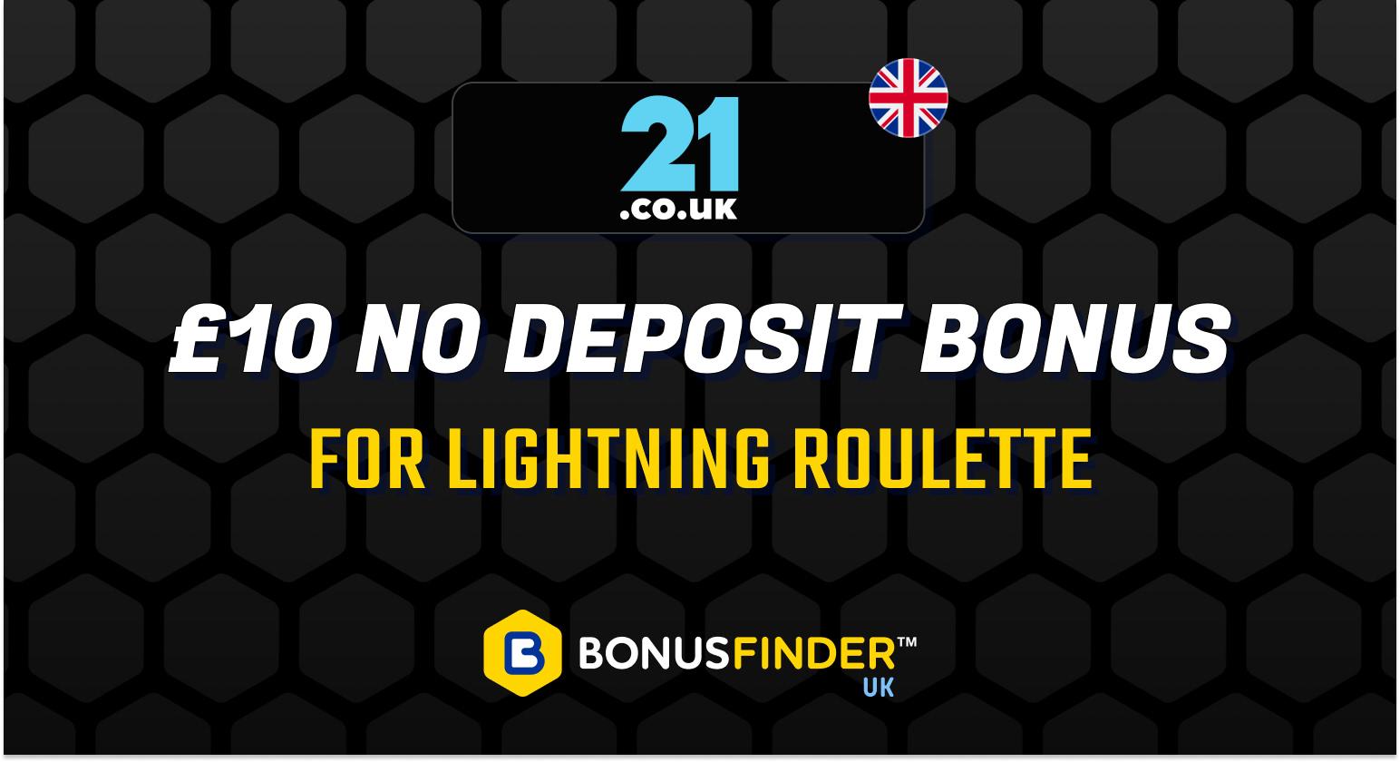 lightning roulette no deposit bonus