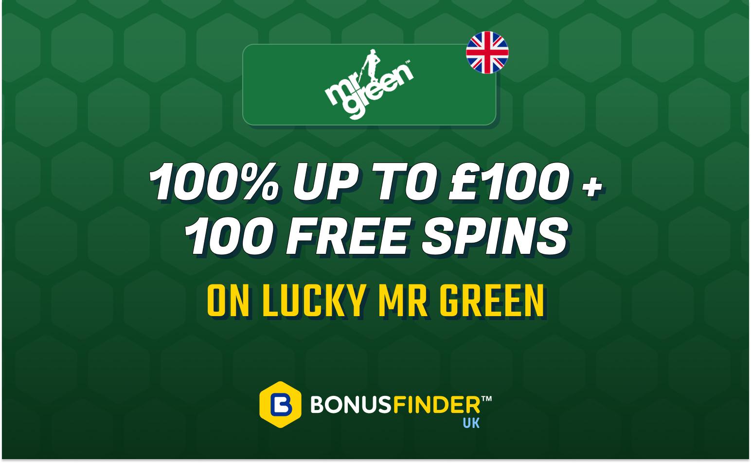 mr green free spins bonus