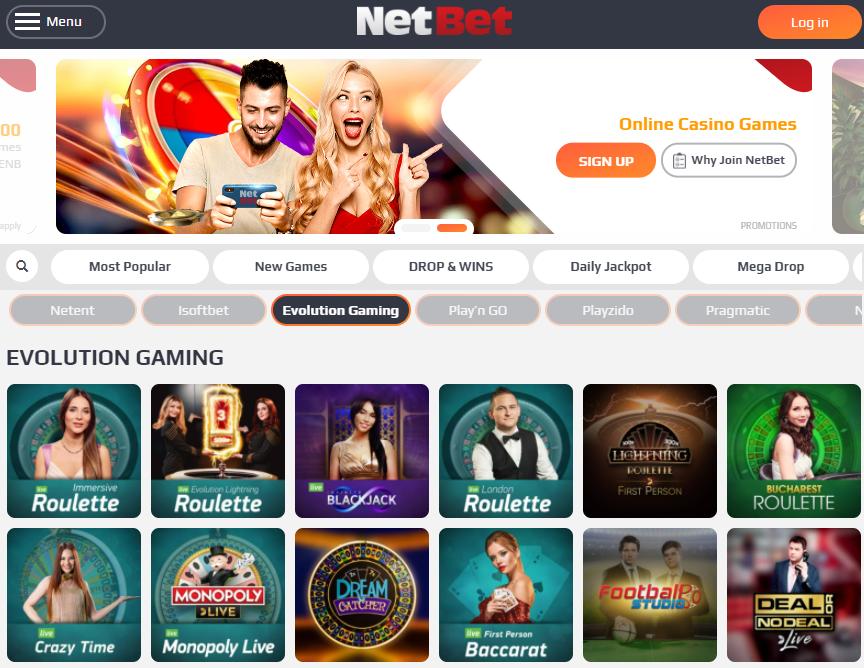 evolution casino games