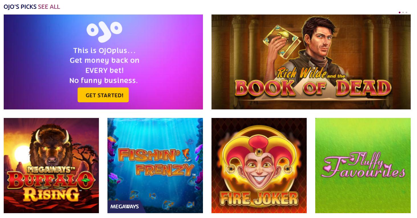 ojo casino games