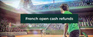 Get up to a £100 free bet if you lose wagering on French Open tennis at Mr Green