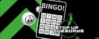 Get a £3 bingo voucher on unibet bingo top up tuesday