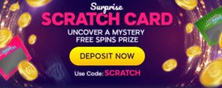 Win up to 45 free spins with surprise scratch card from wink slots
