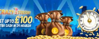 Win £100 in cash bonuses every Tuesday on Winomania