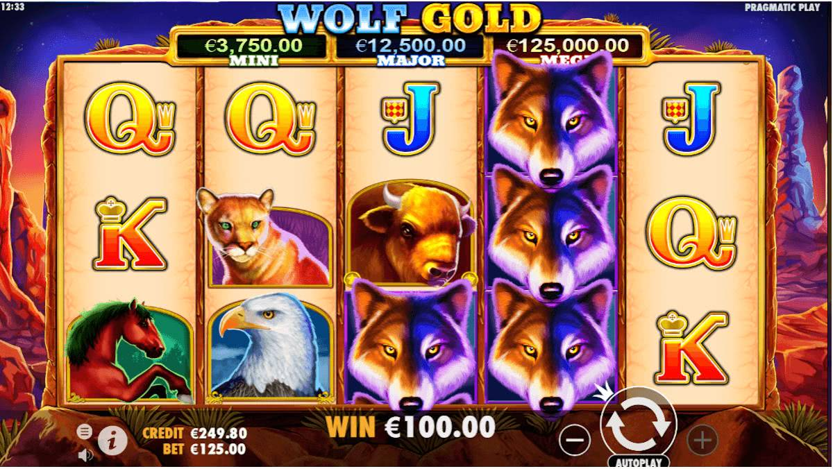 wolf gold free spins