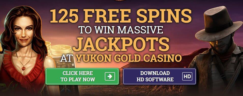 yukon gold casino 125 free spins